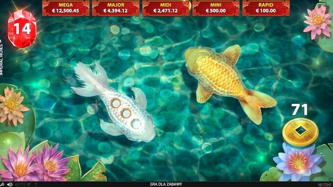 Imperial Riches slot funkcja lucky pond