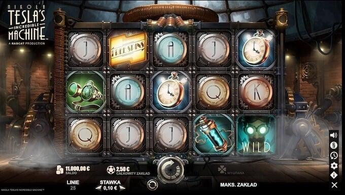 Nikola Tesla's Incredible Machine slot symbole