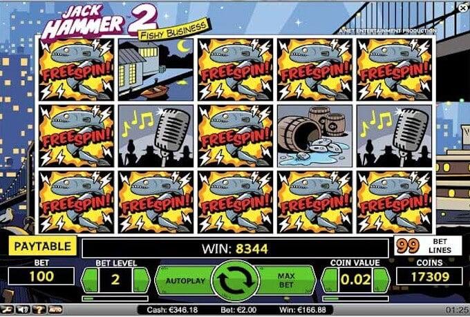 Jack Hammer 2 slot runda bonusowa Sticky Wilds