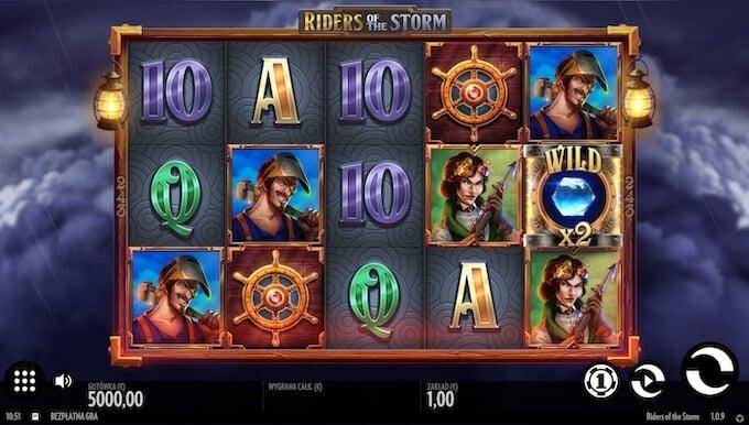 Riders of the Storm slot od Thunderkick symbole
