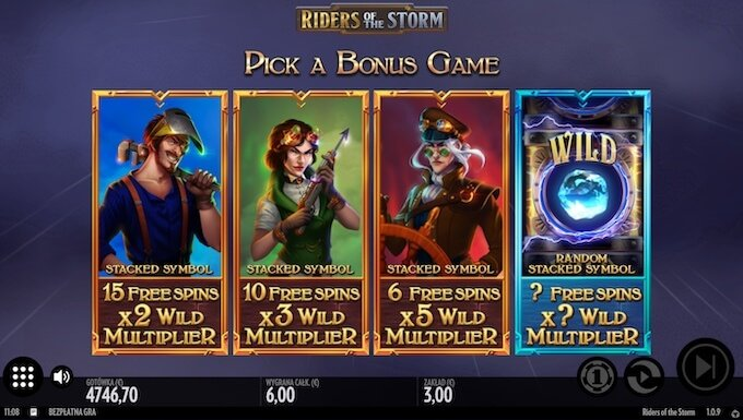 Riders of the Storm slot darmowe spiny