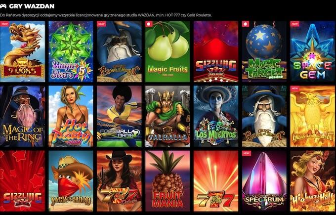 Zagraj w gry Wazdan w kasynie EnergyWin