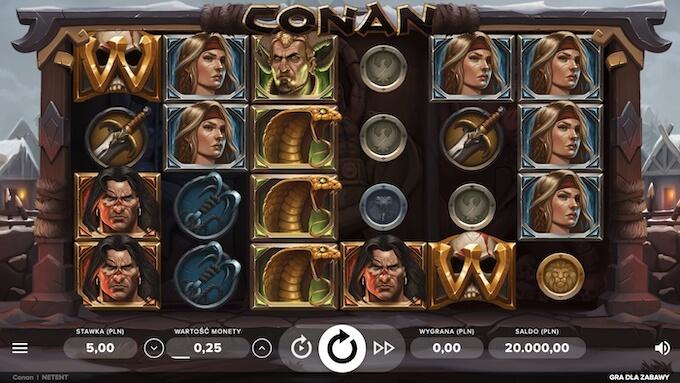 Conan nowy automat od NetEnt symbole i wygląd