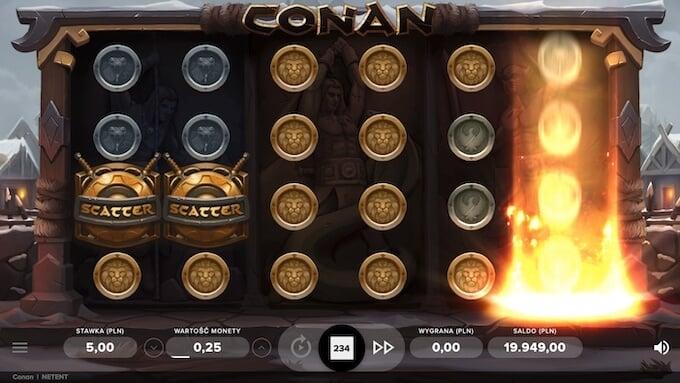 Conan nowy slot dodatkowe modyfikatory gry