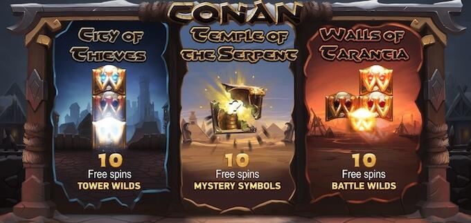 Conan nowy automat online od NetEnt darmowe spiny