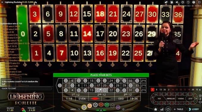 Lightning Roulette nowa gra w kasynie na żywo