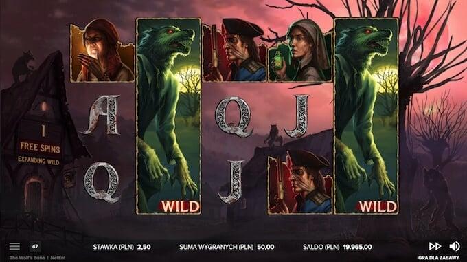 Dodatkowe funkcje w slocie The Wolfs Bane