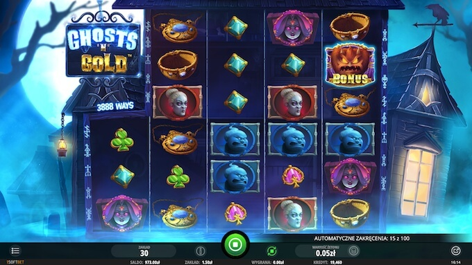 Ghosts 'N' Gold nowy slot od iSoftBet