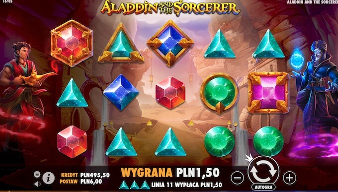 Aladdin and the Sorcerer slot symbole