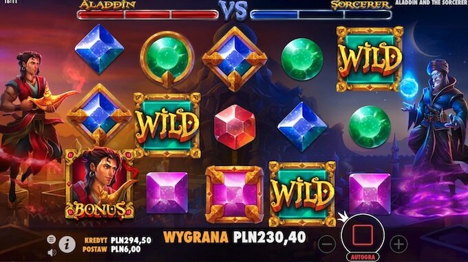 Aladdin and the Sorcerer slot od Pragmatic Play