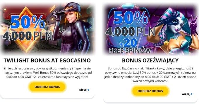oferty dla stałych graczy w kasynie Ego