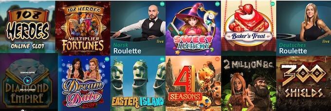 Spinia kasyno gry