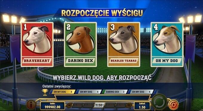 symbole wild w slocie Wildhound Derby