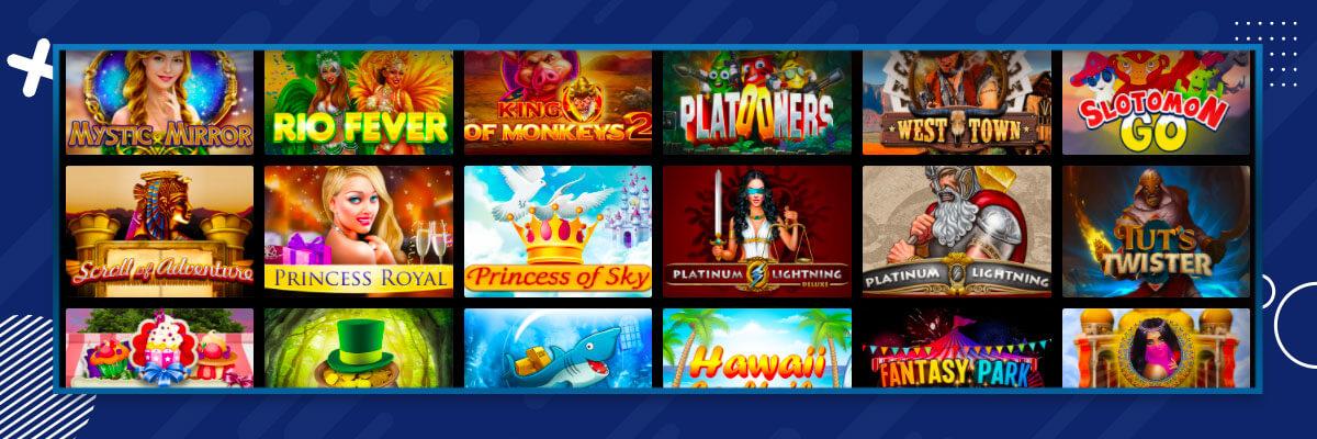 selekcja gier w kasynie Zet